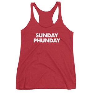 Sunday Phunday Funday Women's Racerback Tank - PH
