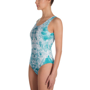 One-Piece Sea Foam Swimsuit