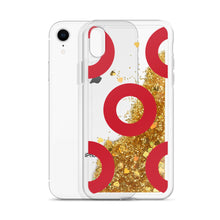 Load image into Gallery viewer, Red Circle Donut Liquid Glitter Phone Case