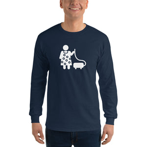 Vacuuming Fishman Long Sleeve Shirt