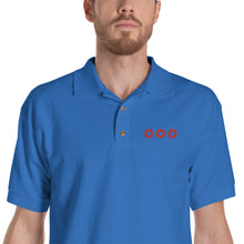 Load image into Gallery viewer, Red Henrietta Donut - 3 Red Circles Embroidered Polo Shirt - PH