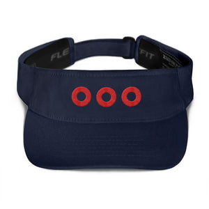 Red Donuts Embroidered Visor, Henrietta Donut