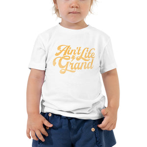 Ain't Life Grand DISTRESSED Toddler Short Sleeve Tee - JB