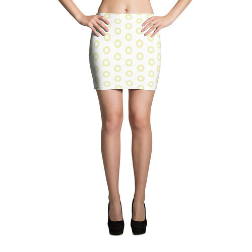 Kasvot Vaxt White Henrietta Circle Donut Mini Skirt - PH