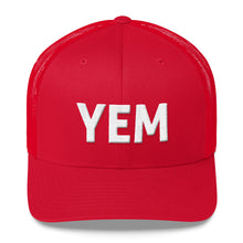 Load image into Gallery viewer, YEM Embroidered Trucker Hat Cap