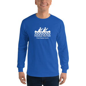 Paddle Faster I Heart Banjo Music Long Sleeve Shirt-Music Lover Gift