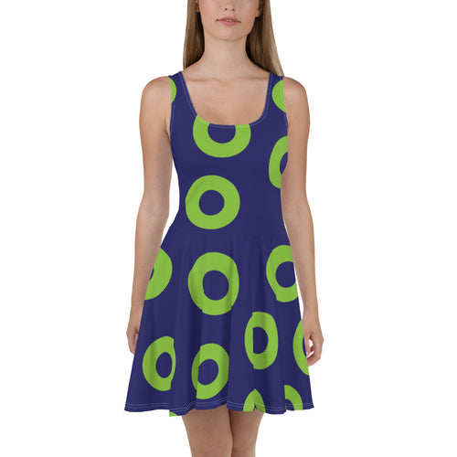Phexico - Green Henrietta Donut Skater Dress - Green Circle Donut - Donut MuMu - PH