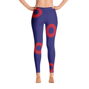 Red Circle Donut Leggings - Super Large Donuts - PH