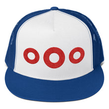 Load image into Gallery viewer, Red Henrietta Donut Embroidered Trucker Hat Cap - PH