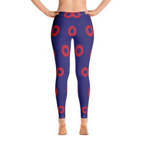 Red Circle Donut Leggings, PH Donut Leggings 4 - PH
