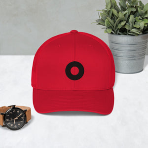 YEMSG Black Circle Donut Embroidered Trucker Cap