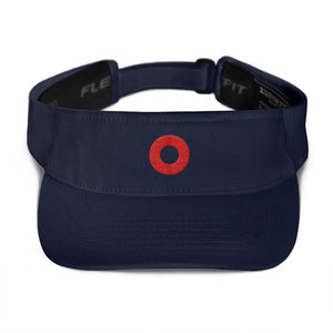 Red Henrietta Donut Embroidered Visor - PH