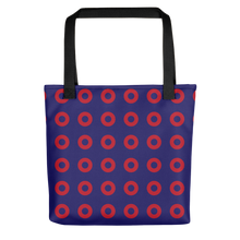 Load image into Gallery viewer, Red Henrietta Circle Donut Pattern Tote Bag - PH