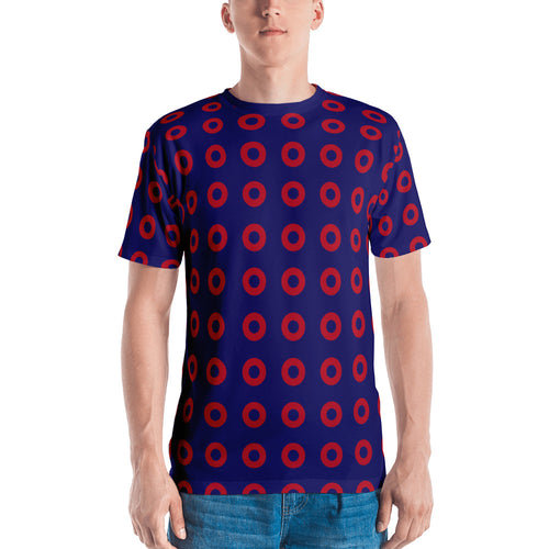 Red Circle Donut Mens T-Shirt - PH
