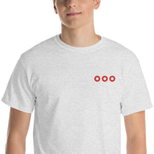 Load image into Gallery viewer, Red Circle Donut X3 Embroidered T-Shirt - PH