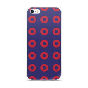 Red Donut Circles iPhone 6,7,8,X Cases - PH