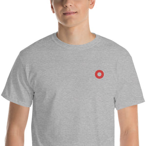 Red Circle Donut Embroidered Unisex T-Shirt - PH