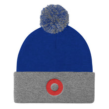 Load image into Gallery viewer, Red Henrietta Donut Embroidered Pom Pom Knit Cap - PH