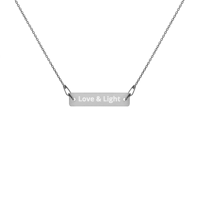 Love & Light Engraved Bar Chain Necklace - PH