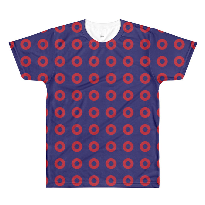 Red Circle Donut Pattern All Over T-Shirt - PH