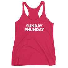 Load image into Gallery viewer, Sunday Phunday Funday Women's Racerback Tank - PH