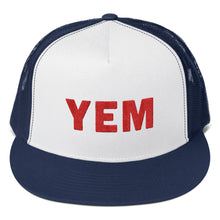 Load image into Gallery viewer, YEM Embroidered Trucker Hat - PH