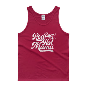 Red Hot Mama DISSTRESSED Graphic Tank top-  WP
