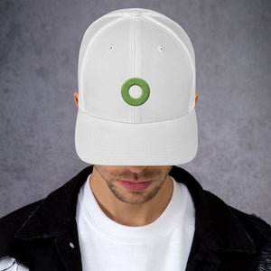 Green Donut Embroidered Trucker Cap, Henrietta, Phexico