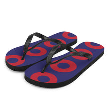 Load image into Gallery viewer, Red Henrietta Donut Unisex Flip-Flops - XL Donut - PH