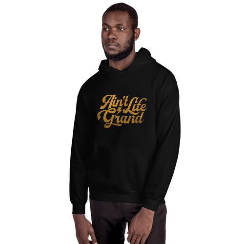 Ain't Life Grand DISTRESSED Graphic Hoodie - Panic Hoodie - Panic Hoody - WSP Hoodie-  WSP
