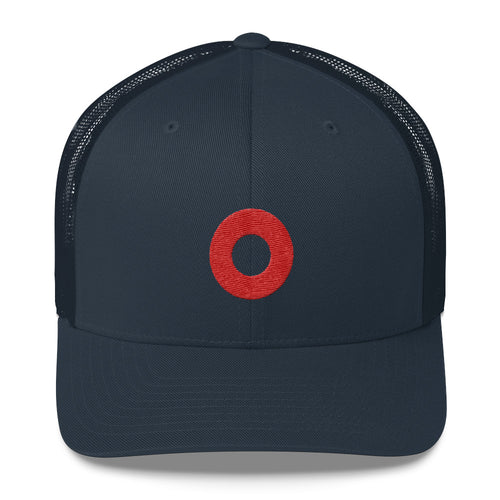 Red Henrietta Donut Embroidered Circle PH Hat Trucker Hat Cap - PH