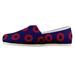 Womens Red Henrietta Donut Woven Slip-On Shoes - PH
