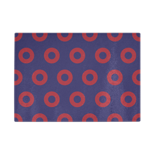 "Load image into Gallery viewer, Red Circle Donut Cutting Board 11""x8"" - PH"