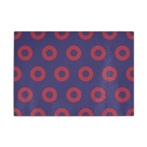 "Red Circle Donut Cutting Board 11""x8"" - PH"