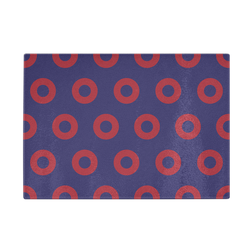 Red Circle Donut Cutting Board 11