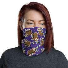 Load image into Gallery viewer, Sloth Donut Face Mask Coverlet,Neck Gaiter, Sloth Face Mask,Neck Gaiter