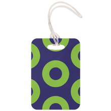 Load image into Gallery viewer, luggage tag  Green Donuts