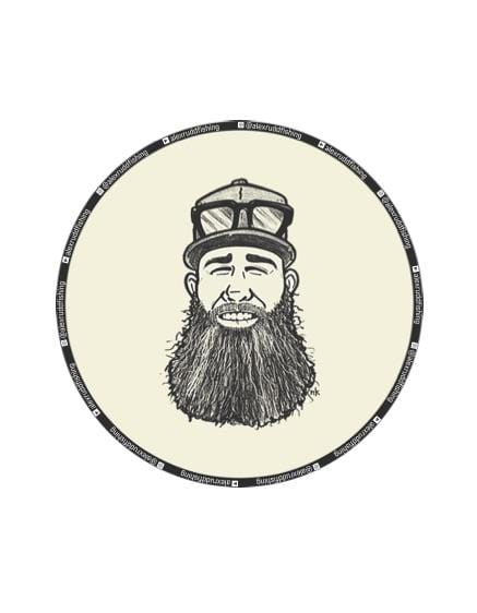 "Alex Rudd Fishing 4"" Round Sticker"