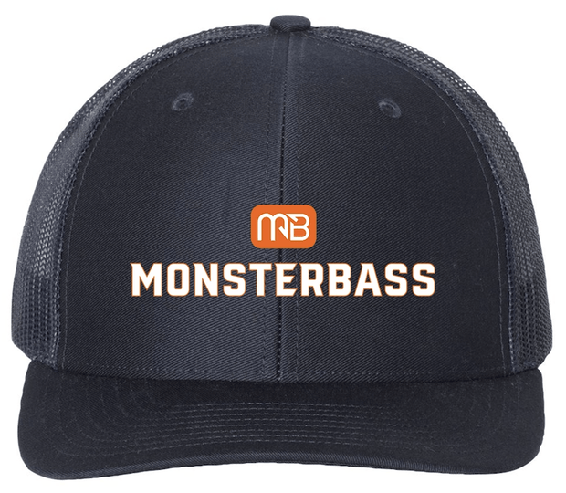 MONSTERBASS Snapback Trucker Hat is Fitted for comfort, and fitted for style. These hats are meant for long days on the boat under the sun. Stylish brim protects you from the heat, and the vented back is ideal to let the dome breathe when it gets hot on the water. The lid looks great forwards or backwards and the popping logo will have other anglers asking where you got that thing all day long.