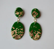 Load image into Gallery viewer, Small Speckled Drop Earrings