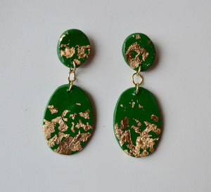 Small Speckled Drop Earrings