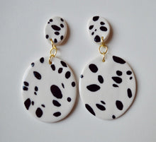 Load image into Gallery viewer, Hand Painted Dot Drop Earrings