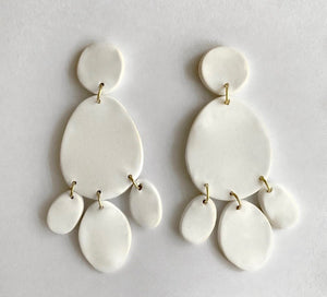 Ivory Triple Drop Earrings