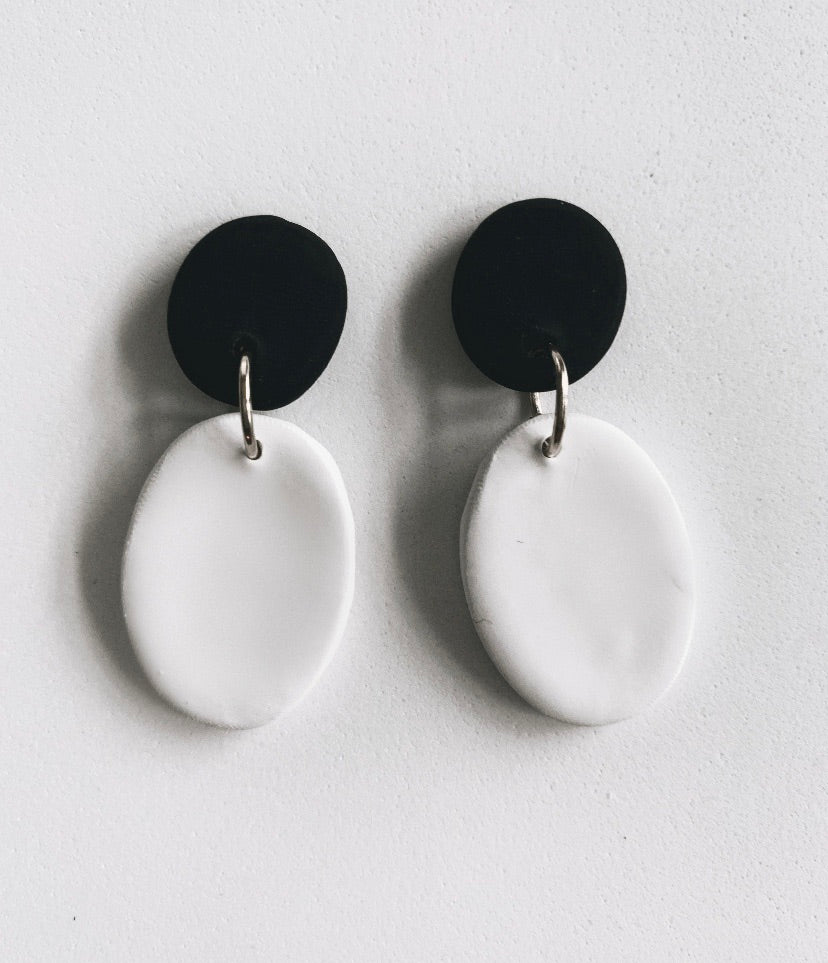 Color Block Drop Earrings