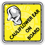 Cauliflower Nation Cauliflower Ear On Board Sticker