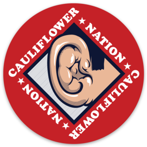 Cauliflower Nation Red Dot Sticker