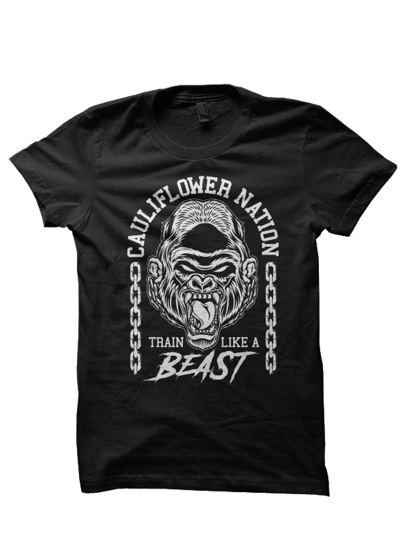 Cauliflower Nation Train Like A Beast Tee