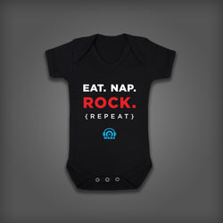 """EAT NAP ROCK REPEAT"" Onesie"