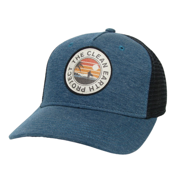 marine blue surfer trucker roadie hat