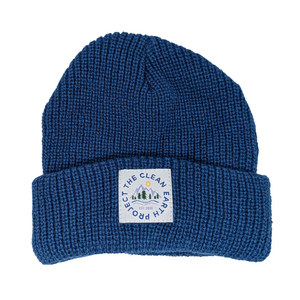 kids blue winter beanie